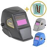 Linxor ® Maschera per saldatura automatica da 9 a 13 DIN + 2 vetri protettivi - Tre colori - Norme EN379 ed EN175