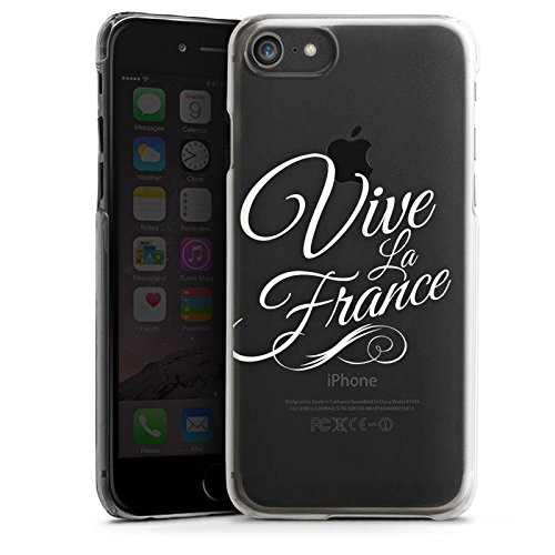 Apple iPhone 8 Silikon Hülle Case Schutzhülle Vive la France ohne Hintergrund Frankreich Hard Case transparent
