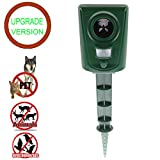 PESGONE Ultraschall Katze Repellent, batteriebetriebene und wasserdichte PIR Sensor Repeller für Katzen, Hunde, Vögel und Skunks und mehr