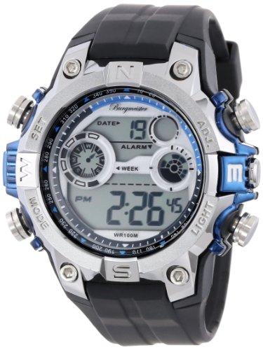 Burgmeister Armbanduhr für Herren mit Digital Anzeige, Quarz-Uhr und Silikonarmband, Wasserdichte mit zeitlosem, schickem Design - klassische, elegante Uhr für Männer - BM800-112C Digital Power
