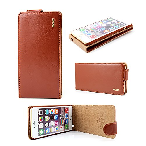 Price comparison product image Imaginative Quality Quality Iphone SE 5 5S Brown Leather Flip Case Cover with Two Card Slot for Apple Iphone 5 5S SE