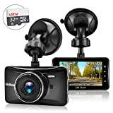Car Dash Cam(with 32GB Card),OldShark 1080P FHD Driving Video Recorder Metal Shelled Dashboard Camera Built in G-Sensor,Night Vision,Parking Monitor,Motion Detection,Loop Recording,170 Wide Angle