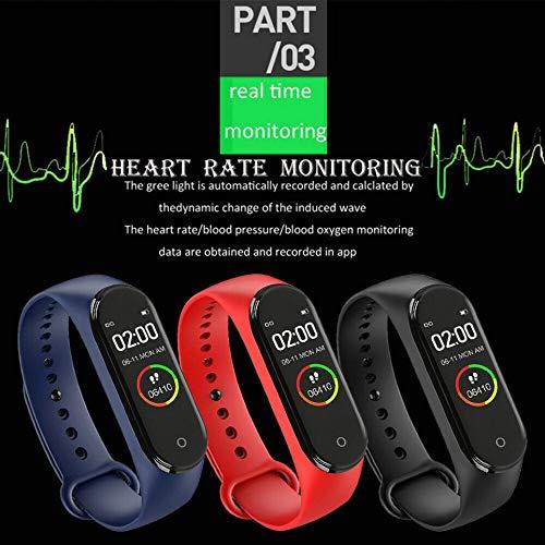 Imagen de ankunlunbai  pulsera de vigilancia para teléfono, control remoto, llamadas, banda deportiva, frecuencia cardíaca, fitness, reloj impermeable, negro alternativa