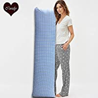 Coozly Premium Lumbar Body Pillow   Arm Curl Pillow   Back Support Pillow   Pregnancy Pillow with Cover (Tao, Full Premium)