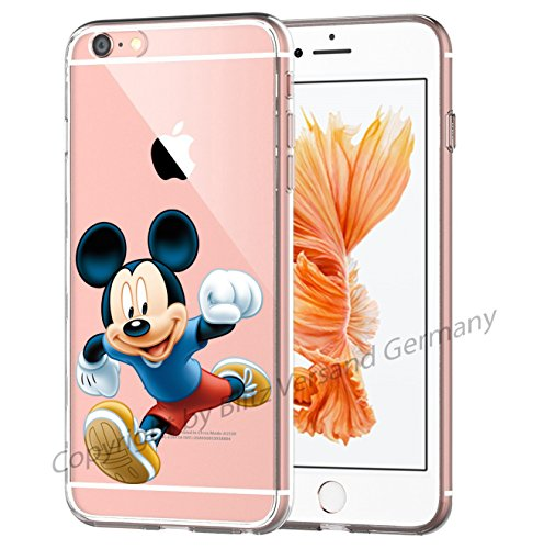 Blitz® MICKEY MOUSE Schutz Hülle Transparent TPU Cartoon Comic iPhone  M16 iPhone 6 6s M8
