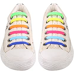 UEETEK No conjunto de 12pcs cordón de silicona Multicolor