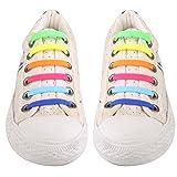 UEETEK No conjunto de 12pcs cordón elástico de silicona de corbata para niños niños Multicolor