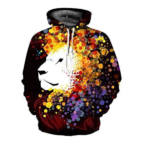 Unisex Winter 3D-Mode-Persönlichkeit Pullover Hoodie, lässiges leichtes Sweatshirt und Tasche S-XXL,113,S