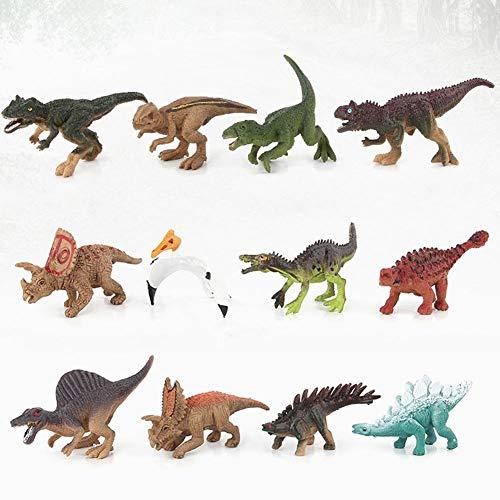 SinceY Dinosaurier-Figuren Spielzeug-Sets, realistisch aussehende, große Kunststoff sortierte Dinosaurier mit Buch für Kinder, Dinosaurier Spielzeug Kindergeburtstag Party Dekoration Packung mit 12