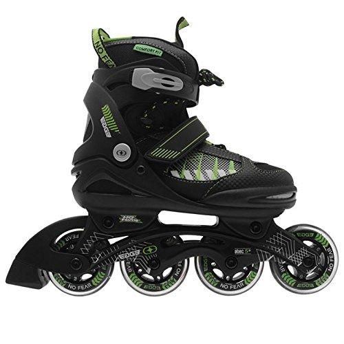 no-fear-kids-children-boys-edge-junior-inline-skates-roller-blades-4-wheel-black-green-uk-4-65