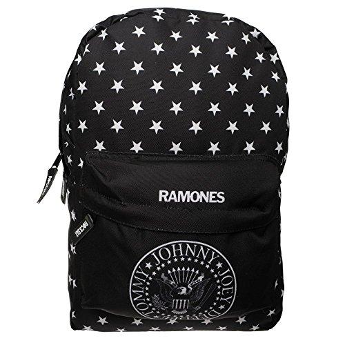 Offizielle Rock Sax Ramones Star Seal Themed Black School Laptop Rucksack Tasche (Offiziell Lizenzierte Star)
