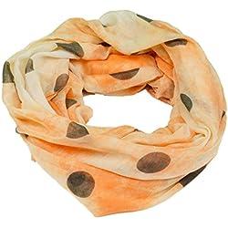 Fashion - Fular - Lunares - para mujer naranja Talla única