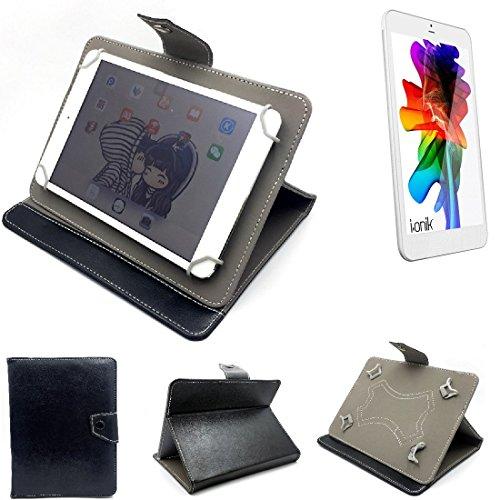 K-S-Trade Schutz Hülle Tablet Case für i-onik TM3 Serie 1 7.85 Zoll, schwarz. Tablet Hülle mit Standfunktion Ultra Slim Bookstyle Tasche Kunstleder