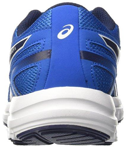 Asics Gel-Zaraca 5 Gs, Chaussures de Course pour Entraînement sur Route Mixte Enfant Bleu (Electric Blue/indigo Blue/white)