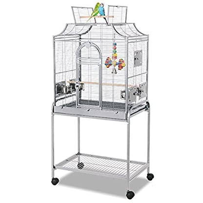 Montana Madeira I Metal Wire in Stone Colouring with Avilon Powder Coating Bird Cage, 69 x45 x 141 cm 1