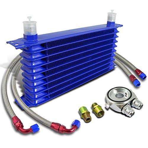 Kit Radiatore Olio Universale 10 Righe per Auto e Moto