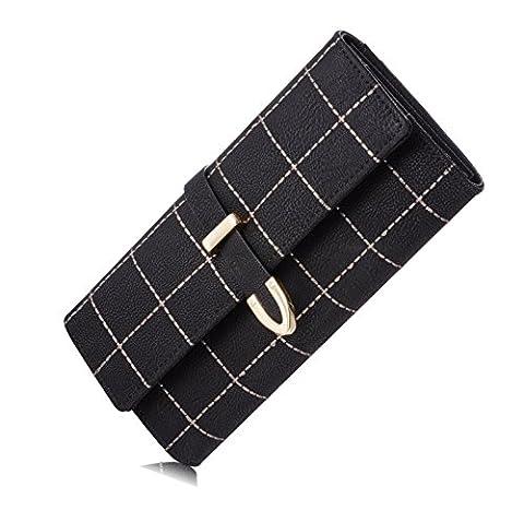 Elegant Damen Geldbörsen PU Leder Geldbeutel Geldbörse Mappe Damen Portemonnaie Handtasche