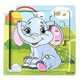 Juguetes educativos, Sannysis Niños de Madera 16 Pieces Jigsaw Juguetes para la Educación Infantil y Aprendizaje Puzzles Juguetes Madera Puzzle Educativo De Desarrollo Bebé Juguete De Entrenamiento (A)