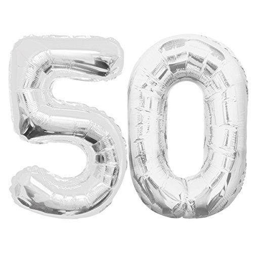 XXL Folienballon - Jumbo Zahl 50 ca. 85cm