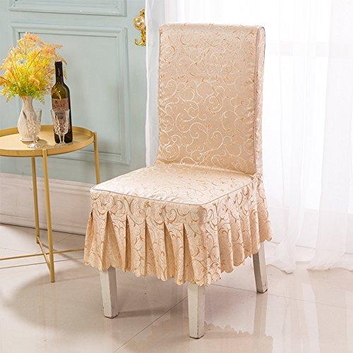 Das Hotel Hochzeit Stühle der Hochzeit Sitzbezug set twin Bank Kit Das hotel restaurant Bankett Sitzpolster, Champagner Farbe Jin Zhi Yu-Blatt umfasst (Hotel Blatt Twin)