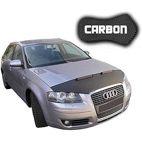 Protector del Capot para Audi A3 8P Sportback CARBON óptica Car Bra buena calidad Bonnet Bra