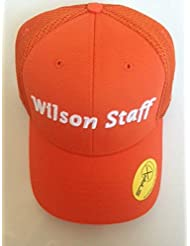 2016 WILSON STAFF MESH GOLF CAP. ORANGE.