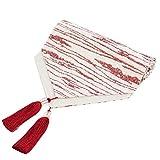 Mode Tischfahne Tuch Einfache Nordic Kaffee Bett Hochzeit Hotel Bankett 3 Farben 35 cm * 160 cm (Farbe : Red, größe : 210cm)