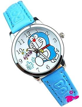 Doraemon children kids cartoon Watches leather Watch WP@KTWDD004L