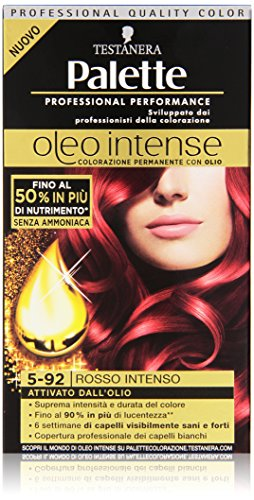 Testanera - Palette, Colorazione Permanente Con Olio, 5-92 Rosso Intenso