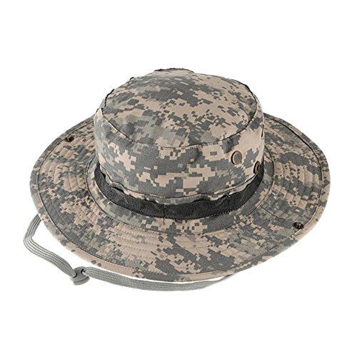Outdoor Sports Sun Caps, Camouflage Hunter hat, Sniper Combat Caps Mützen, Rundrand Hut für Angeln Wandern Camping Wandern Kopfbekleidung Unisex Frauen Männer Mädchen Test