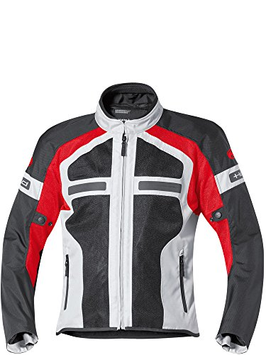 Preisvergleich Produktbild Motorradjacke Held Tropic II Textiljacke grau/rot XL