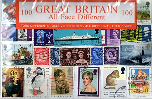 Großbritannien Briefmarken (100 Stück) - GB England London UK / verschiedene Spiele Souvenir-Reihe /Speicher / Sammlerstück, Souvenir, ein Einzigartiger und Lehrreich!