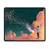 Man-in-the-stardust Comfortable Rectangle Rubber Base Mousepad Gaming Mouse Pad