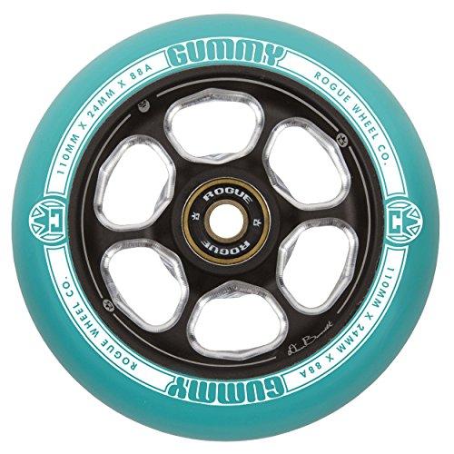 Rogue Pro Scooter Wheels–Dan Barrett Signature 2Pack–110mm, Grün / (Kit Rainbow Fox)