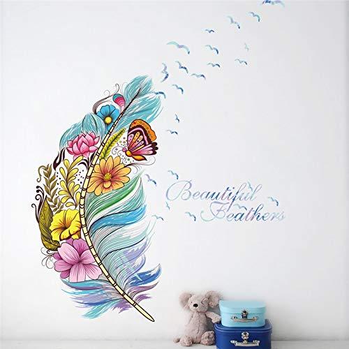 Atiehua Pegatinas De Pared Flor Voladora Atrapasueños Arte De La Pared Pegatinas Sala Tienda Mural Decoraciones Regalo Calcomanías Hogar Diy Carteles