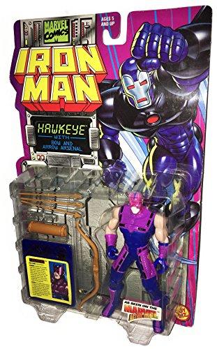 MARVEL Comics IRON MAN Actionfiguren Reihe: HAWKEYE with Bow and Arrow Arsenal