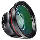Caméscope Objectif Besteker 2 en 1 Full hd 72mm 0.39X Professionnel Lentille Grand Angle avec 37mm Macro Kit Conversion pour Caméscope Caméra Appareil Photo Numérique