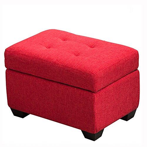 ZXQZ Tabouret coloré en Bois Solide/Tabouret de Chaussure de Foyer/Tabouret de Stockage de Chambre à Coucher (6 Couleurs facultatives) Repose-Pieds de Stockage (Couleur : Rouge, Taille : 40 * 60cm)