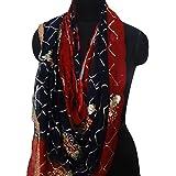 cuello indio nupcial dupatta georgette de material de pareo bordado estola utiliza la moda hijab azul pañuelos tradicionales velo