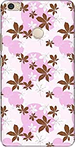 The Racoon Grip printed designer hard back mobile phone case cover for Xiaomi Mi Max. (flower dew)
