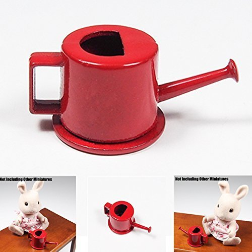 odoria-112-miniature-arrosoir-en-metal-rouge-accessories-de-fee-de-jardin
