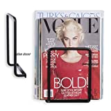 #9: Indian Decor Magazine Holder Square Wall Mounted Brackets - Door Mounted Newspaper Holder -Black