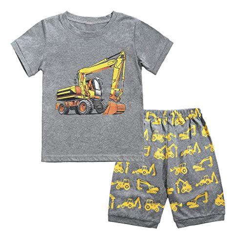 AIni Baby Kleidung, Sommerkleid Mode Elegant Kinder Unisex Baby Jungen Mädchen Pyjamas Cartoon Printed Tops Shorts Hosen Outfits Set BeiläUfiges Strand Party Kleidung (Boy Toy-shirt)