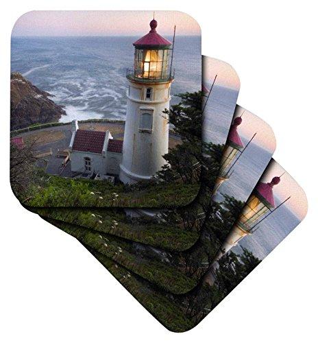 Danita Delimont–Leuchttürme–haceta Head Lighthouse, Oregon, USA–US38rkl0018–Raymond Klass–Untersetzer, Gummi, set-of-8-Soft (Küsten-dekor-tischsets)