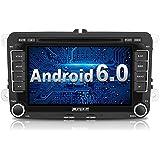 PUMPKIN Android 6.0 Autoradio DVD Player Moniceiver mit GPS Navigation für VW Golf Polo Jetta Passat Unterstützt DAB+ Bluetooth WLAN 3G OBD2 7 Zoll Touchscreen 2 Din