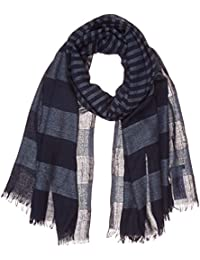 Womens Cosy Glencheck Scarf, Grey (Alloy Grey Melange 2224), One Size Tom Tailor
