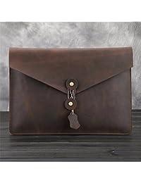 Preisvergleich für WanJiaMen'Shop Handtasche Leder Dokumententasche Vintage Paket Männliche Tasche Leder Business Handtasche Leder...