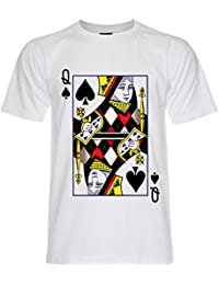 PALLAS Men's Queen of Spades Playing Cards T-Shirt -PA256