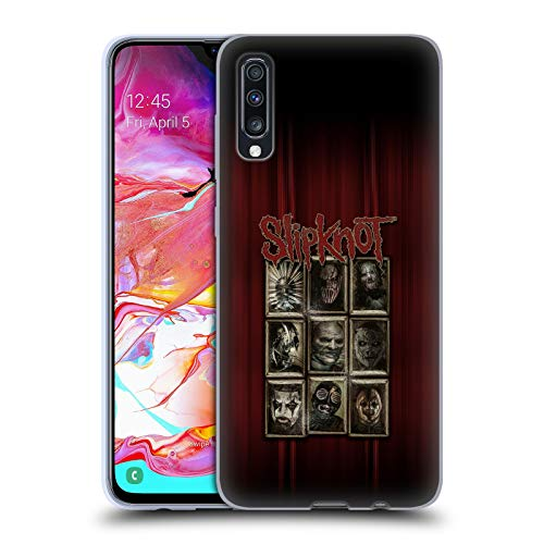 Head Case Designs Offizielle Slipknot Masken Kunst Soft Gel Huelle kompatibel mit Samsung Galaxy A70 (2019) (Slipknot Masken 2019)