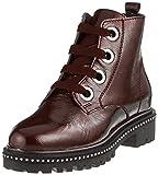 Marco Tozzi Premio Damen 25126-31 Combat Boots, Braun (Bordeaux Pat. 580), 39 EU